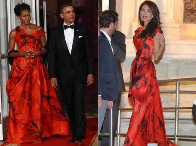 Битва нарядов: Амаль Клуни или Мишель Обама?