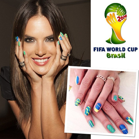 Модный маникюр к чемпионату мира по футболу