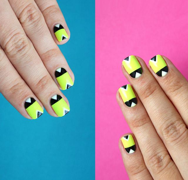 Пошаговый урок: неоновый геометрический маникюр - лучший вариант для лета!