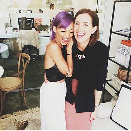 Звезды с фиолетовыми волосами
