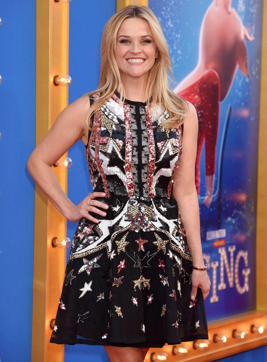 """Образ дня: Риз Уизерспун блеснула красотой в платье Elie Saab на премьере мультика """"Зверопой"""" Риз Уизерспун фото, Риз Уизерспун"""