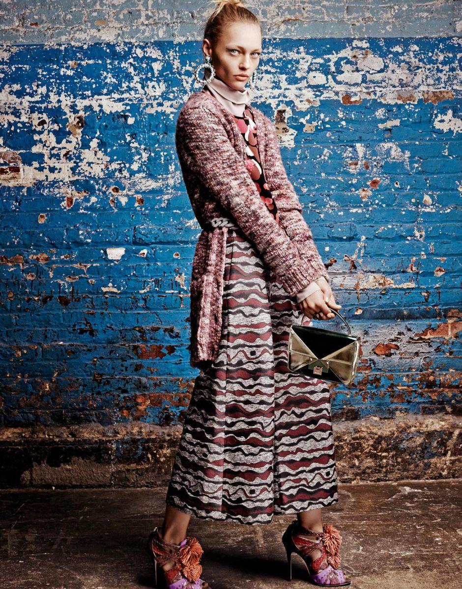 образ Саши Пивоваровой в съемке для Stylist UK