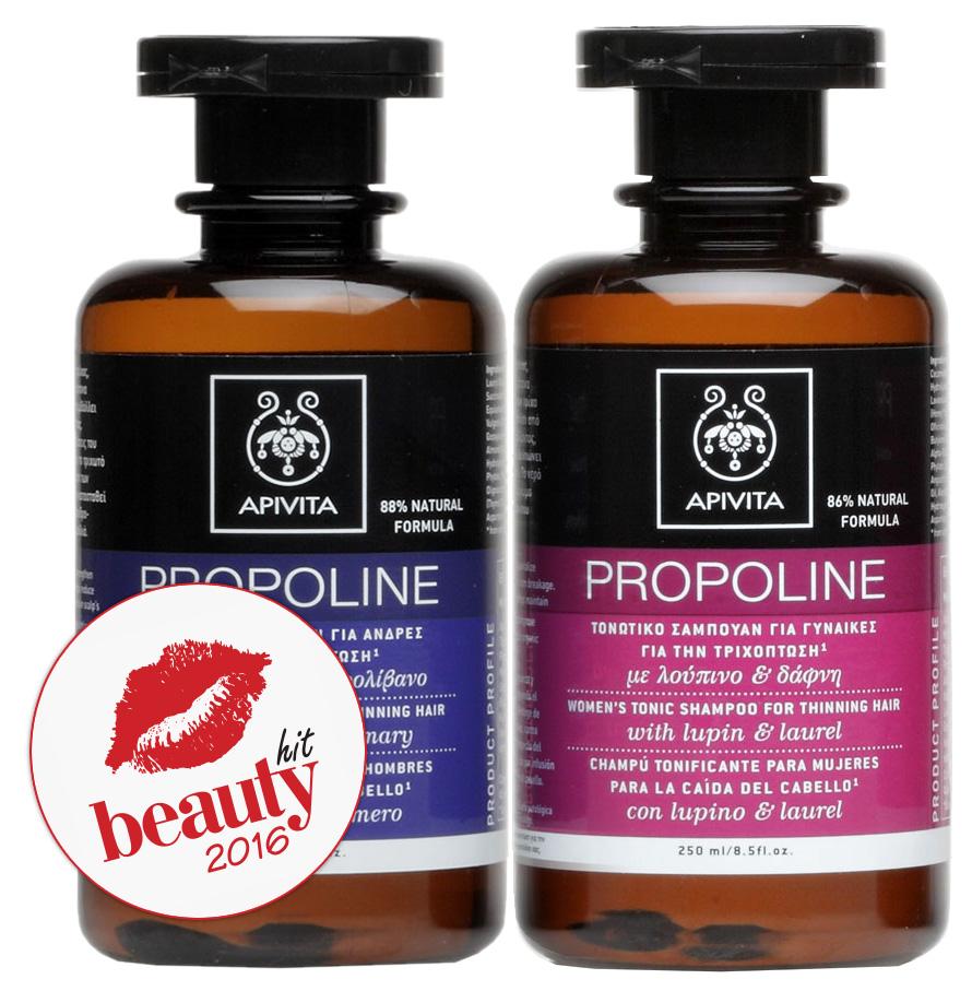 Участники рейтинга Beauty Hit - тонизирующий шампунь для редеющих волос Apivita Propoline