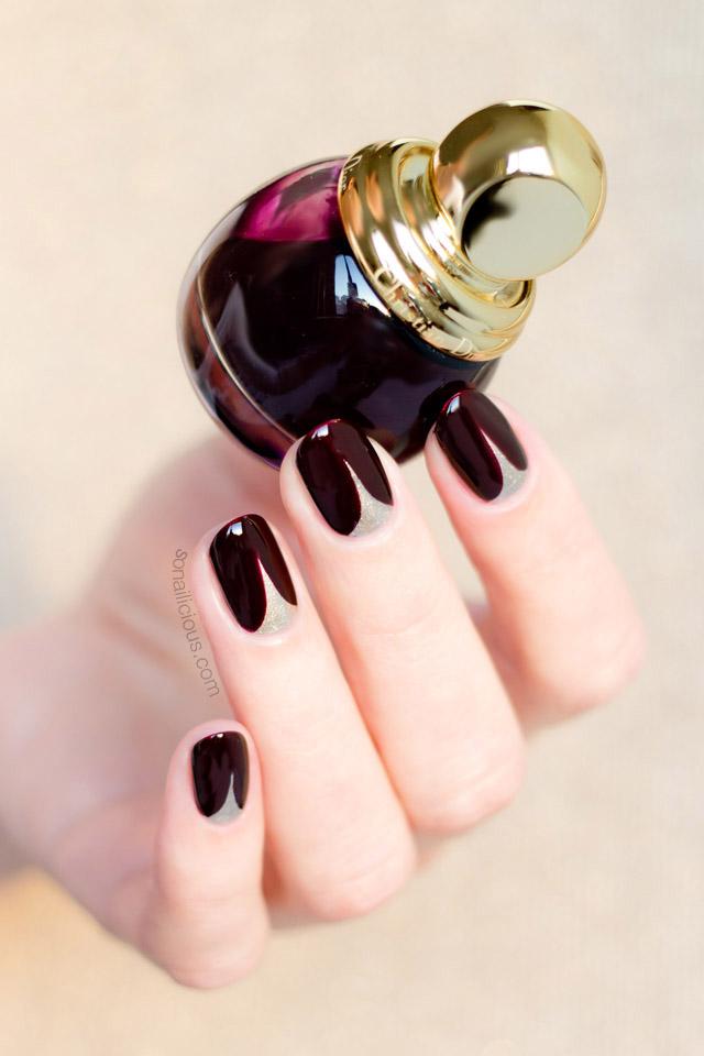 Маникюр пятницы: стильный вечерний nail-art с винным лаком Dior
