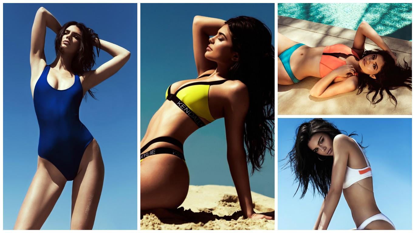 Кендалл и Кайли Дженнер создали коллекцию купальников для TopShop фото